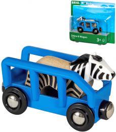 BRIO DØEVO Set vagónek nákladní + zebra doplnìk k vláèkodráze