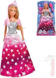 SIMBA Panenka Steffi Glitter Princess 29cm tøpytivé šaty set s doplòky v krabici