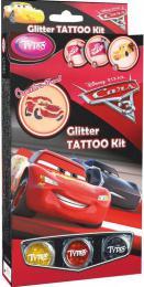 TyToo Dìtské tetování Cars 3 (Auta) 12 tetovaèek pro kluky se tøpytkami