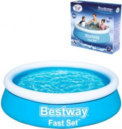 BESTWAY Bazén Fast Set samostavìcí kruhový 183x51cm rodinný 57392
