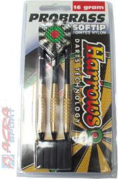 ACRA Šipky s plastovým hrotem HARROWS SOFT PRO BRASS T11 16g set 3ks