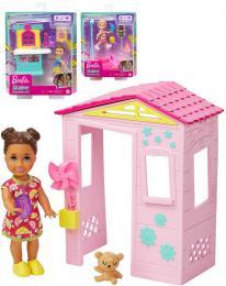 MATTEL BRB Barbie herní set panenka s doplòky pro chùvu 3 druhy