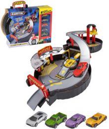 Teamsterz garáž skládací 2 patra herní set s myèkou a autíèky 5ks v kuføíku