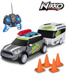 NIKKO RC Auto Mini Cooper Countryman s karavanem 2,4GHz na vysílaèku 1:20 na baterie
