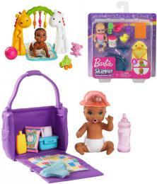 MATTEL BRB Barbie Skipper miminko herní set s doplòky 3 druhy