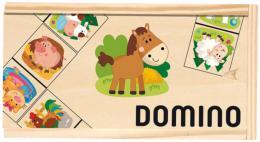 DØEVO Hra Domino obrázkové zvíøátka 28 kamenù *SPOLEÈENSKÉ HRY*