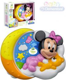 CLEMENTONI Baby projektor Minnie Mouse kouzelné hvìzdy na baterie Svìtlo Zvuk