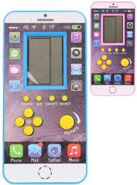 Hra digitální tetris Brick Game elektronická smartphone na baterie 4 barvy Zvuk