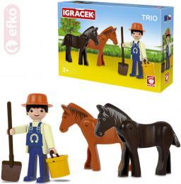 EFKO IGRÁÈEK TRIO Farma set figurka s doplòky STAVEBNICE