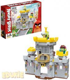 EDUKIE Angry Birds hrad set 239 dílkù + 2 figurky STAVEBNICE