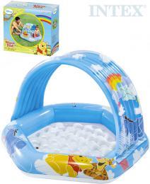 INTEX Baby bazének Medvídek Pú se støíškou 109x102x71cm brouzdalištì 58415