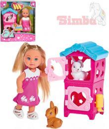 SIMBA Evi Love Panenka Evièka králíkárna 12cm set s doplòky v krabièce