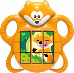 Baby skládaèka liška pøesouvací puzzle 3v1 na baterie Zvuk pro miminko