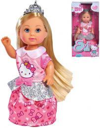 SIMBA Panenka Evièka Hello Kitty princezna s tiárou v krabici