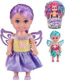 Sparkle Girlz víla 12cm panenka kvìtinová s køídly 4 druhy v kornoutku