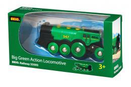 BRIO Lokomotiva elektrická zelená na baterie doplnìk k vláèkodráze Svìtlo Zvuk