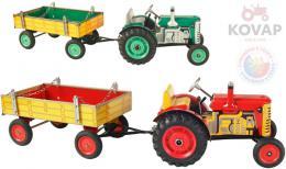 KOVAP Traktor Zetor retro model 1:25 plechový k natažení na klíèek Kov 0395