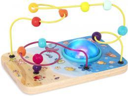 B-TOYS DØEVO Baby labyrint motorický na baterie Svìtlo Zvuk *DØEVÌNÉ HRAÈKY*