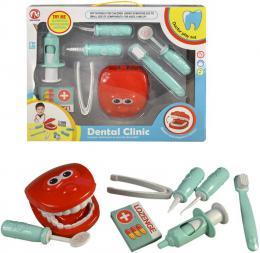 Zubní ordinace dìtský lékaøský set s chrupem a nástroji plast