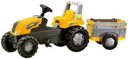 ROLLY TOYS Traktor šlapací s vlekem zelený Junior s Farm vleèkou - žlutý