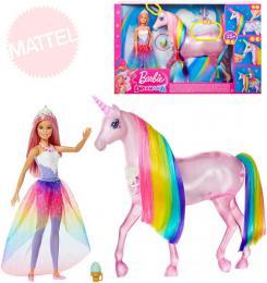 MATTEL BRB Dreamtopia set panenka Barbie + jednorožec na baterie Svìtlo Zvuk