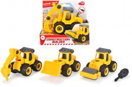DICKIE Autíèko žluté stavební šroubovací set s nástrojem 4 druhy plast