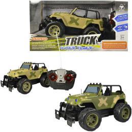 RC Auto Jeep vojenský velká kola 27MHz na vysílaèku na baterie 2 barvy Svìtlo