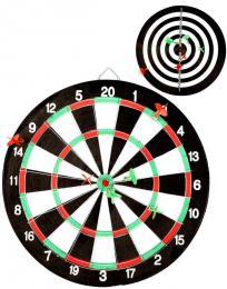 Hra šipky set terè oboustranný 41cm se 6 šipkami *SPOLEÈENSKÉ HRY*