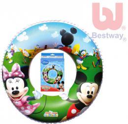 BESTWAY Nafukovací dìtský plavací kruh Minnie a Mickey Mouse 56cm do vody