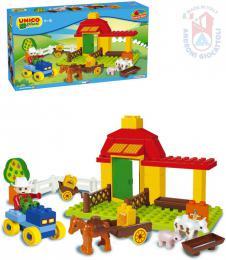 ANDRONI Unico plus baby stavebnice Farma 42 dílkù