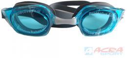 ACRA Brýle plavecké závodní se zrcadlovkou TORNADO modré