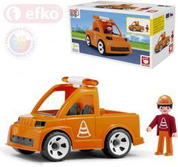 EFKO IGRÁÈEK MultiGO Set auto vozidlo silnièní údržby s cestáøem STAVEBNICE
