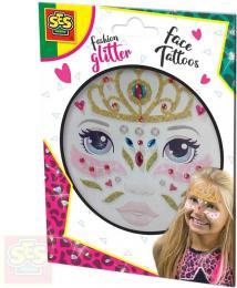 SES CREATIVE Princezna tøpytkové tetování na oblièej kreativní sada