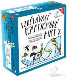PYGMALINO Vzdìlávací kartièkové hry 2 4v1 v krabici *SPOLEÈENSKÉ HRY*