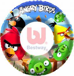 BESTWAY Nafukovací dìtský plavací kruh Angry Birds 56cm do vody