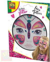 SES CREATIVE Motýl tøpytkové tetování na oblièej kreativní sada