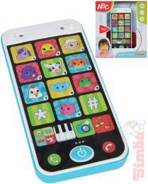 SIMBA Baby chytrý telefon mùj první smartphone na baterie Svìtlo Zvuk