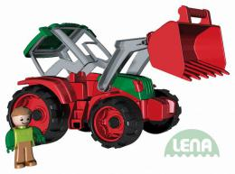 LENA Truxx Traktor 33cm s figurkou øidiè (vozítko na písek)