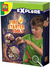 SES CREATIVE Sada na rozdìlávání ohnì malý zálesák v krabici