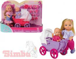SIMBA Evièka panenka set s koèárkem a doplòky 2 druhy