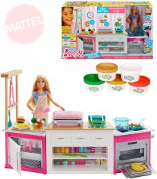 MATTEL BRB Kuchynì snù set panenka Barbie s modelínou a doplòky Svìtlo Zvuk