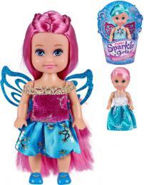 Sparkle Girlz 12cm panenka zimní princezna s køídly 4 druhy v kornoutku