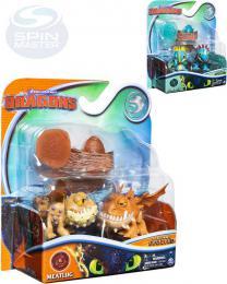 SPIN MASTER Jak vycvièit draka 3 Evoluèní balení 2 figurky s vejcem a doplòky