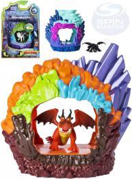 SPIN MASTER Jak vycvièit draka 3 set jeskynì s drakem na baterie Svìtlo