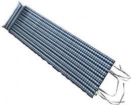 ACRA Lehátko rolovací plážové 184x55cm s podhlavníkem pruhované modré