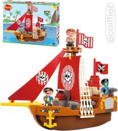 ECOIFFIER Baby Abrick loï pirátská herní set se 2 figurkami plast pro miminko