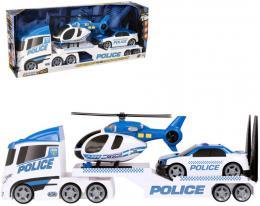 Teamsterz policejní tahaè set s autem a vrtulníkem na baterie plast Svìtlo Zvuk