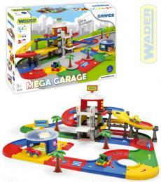 WADER Set Mega garáž 3 patra s dráhou 7,4m + 3 auta v krabici plast