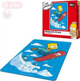 EFKO Puzzle The Simpsons Bart na snowboardu skládaèka 15x21cm 54 dílkù v krabici