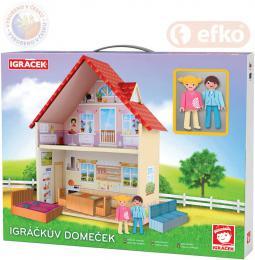 EFKO IGRÁÈEK Igráèkùv Domeèek herní set se 2 figurkami STAVEBNICE